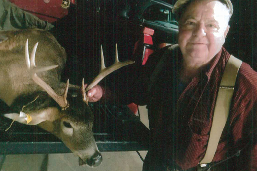 At age 82, Local 9 Pennsylvania 60-year member Sergio Lazzaris said that he didn't expect to bag this buck in an extended bow season in Jefferson Hills, PA.